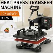 Digital Heat Press Machine T Shirt Sublimation 360 Swing Away Transfer 12x10