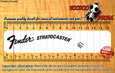 Fender Stratocaster 1970´s ALL BLACK Headstock Restoration Waterslide Decal