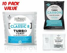 CLASSIC 8 Turbo Yeast Pack - 10 Pack - Still Spirits Home Brew EZ Essence