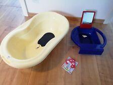 Babybadewanne gelb von rotho + Badewannenaufsatz Waschbecken für Kinder
