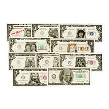 Set of 10 diff. vintage Bill and Hillary 1990's satirical fantasy paper money
