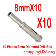 10 Pieces 8mm Diamond tool drill bit hole saw set for glass ceramic marble tile