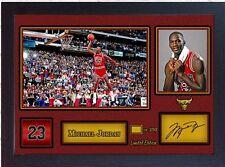 Michael Jordan Chicago Bulls Firmato Autografo NBA BASKETBALL cimeli incorniciato