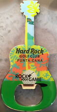 "Hard Rock Hotel PUNTA CANA ""Golf Club"" Guitar MAGNET Bottle Opener BALL & TEE!"