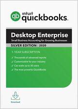 QuickBooks Desktop Enterprise 2019 - Silver 1 User (PC Download + CD) SAVE 20%!