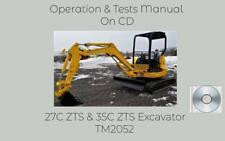 John Deere 27c Zts 35c Zts Excavator Operation Tests Technical Manual Tm2052
