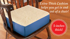 """EXTRA Thick Seat Riser Cushion 5"""" Lift for Use in Auto, Office, Home Brand NEW!"""