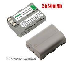 2x Kastar Battery for Nikon EN-EL3e D80 D90 D100 D200 D300 D300S D700