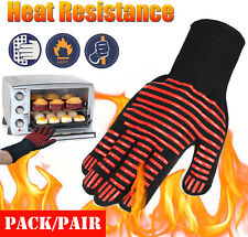 Silicone BBQ Gloves 1/2 Pack Grill Fire Proof Pot Holder Cooking Oven Mitt