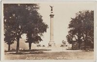 New York NY Real Photo RPPC Postcard 1932 WEST POINT Battle Monument Scene
