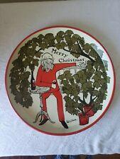Vintage Christmas Holiday Metal Serving Tray England