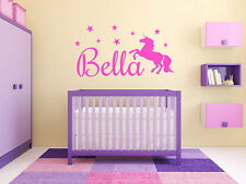 "Personalized Girls Unicorn Name Monogram Wall Decal Graphic Sticker 22"" Tall"