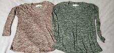Old Navy Maternity Small lot 2 light stretchy Sweaters Heathered Grey Maroon