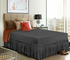 Elastic Bed Ruffle Skirt with 16 Inches Drop Utopia Bedding