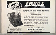 Ideal Electric Anchor Windlass PRINT AD - 1948 ~ Model C Series,CHWPC,Attlelboro