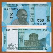 India, 50 Rupees, 2018, P-New, Unc > Gandhi, Redesigned, New Colors