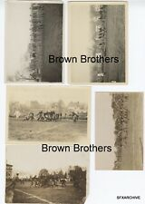 Vintage 1920-30s College or High School Football Game Photo Lot #1 - 5 pcs