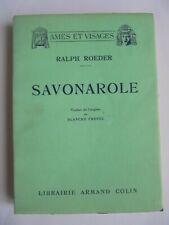 SAVONAROLE 1933 RALPH ROEDER AMES ET VISAGES