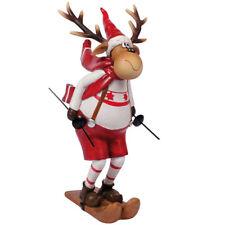Skifahrer Elch Junge 14 cm Figur Arthur Weihnachten Weihnachtsfigur Dekoration
