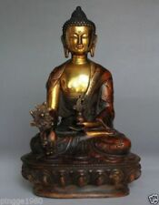 """8.2"""" Old Tibetan Brass Buddhism Bodhisattva Buddha excellent Statue 21cm"""