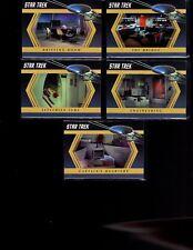 Star Trek TOS The Captains Collection Inside the Enterprise  set of  9 card