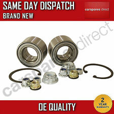 VW BORA, NEW BEETLE, GOLF MK4 FRONT WHEEL BEARING PAIR (2x) + NUT 1997>on NEW