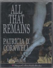 All That Remains Patricia Cornwell 2 Cassette Audio Book Scarpetta FASTPOST