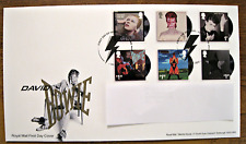 ROYAL MAIL DAVID BOWIE LIVE STAMP FIRST DAY COVER SW9 POSTMARK + POSTCARD SET