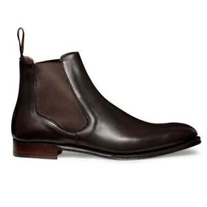 Men Handmade Dark Brown Leather Chelsea Boots,Formal Jodhpur Ankle Boots