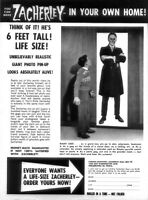 "Vintage Zacherley ""6 Foot Poster "" Sold in Famous Monsters of Filmland"