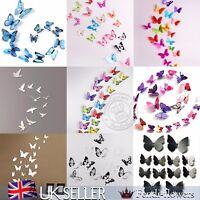18pcs 3D Butterfly Wall Stickers Art Decal Home Decor PVC Butterflies Decoration