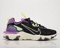 Nike React Vision Men's Black Purple Athletic Casual Lifestyle Sneakers Shoes
