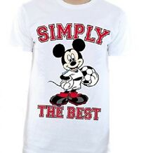"""Disney Men's Mickey Mouse T-Shirt fitted Brand New Sealed - White Large / UK 42"""""""