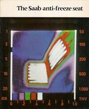 SAAB anti gel siège chauffant 1973-1974 marché britannique brochure 96 99 95