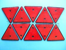 FREE P&P* 10 x Red Triangle Reflectors for Driveway Gate Fence Posts & Trailers