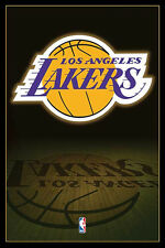 "NBA LOS ANGELES (LA) LAKERS LOGO POSTER ""LICENSED"" BRAND NEW ""61cm X 91.5cm"""