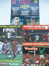 League Cup Final Programmes x 3 1978,81  Forest, Leeds, Liverpool, West Ham