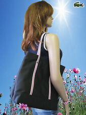 Vinatage LACOSTE Womens Shopping Shoulder TOTE Shopper Bag Classic Pop 6 Black