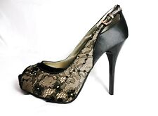 New Guess Sandals By Marciano Louisa8 Color Tan/ Black Multi Satin Floral  9