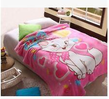 cute Marie Cat coral fleece Bed blanket rug blankets 200x150CM warm soft