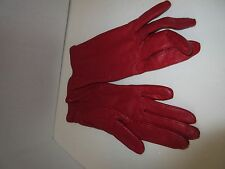 Ladies Large Leather Gloves, Red