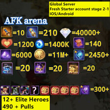[GLOBAL/IOS/ANDROID] 40000+ DIAMONDS   AFK ARENA STARTER ACCOUNT