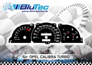 Tachoscheiben für: OPEL CALIBRA TURBO EDITION BLACK 280kmh 8000upm