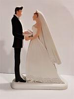 Brautpaar Figur groß Hochzeit Braut Bräutigam Deko Geschenk Skulptur Tischdeko