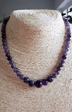 "Ladies Necklace Amethyst Gemstones 16""+ Gold Filled FQli Handmade New Pre-Order"