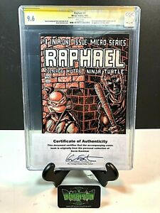RAPHAEL: TEENAGE MUTANT NINJA TURTLE #1 SIGNED KEVIN EASTMAN CGC 9.6 MIRAGE 1985