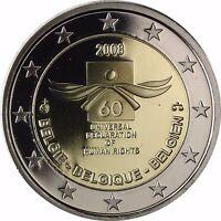Belgien 2 Euro Münze 60 Jahre Menschenrechte 2008 PP Gedenkmünze im Etui