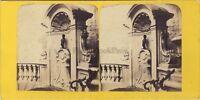 Manneken Pis Bruxelles Belgium Foto BT Stereo Vintage Albumina Ca 1865