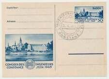 F. Zone Baden Nr. 46 I auf Ersttagskarte (FDC) mit Befund Schlegel BPP (46528)