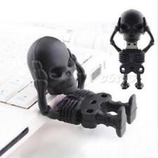 Black Skull Man High Speed 64GB USB2.0 Flash Memory Stick Pen Drive U Disk JMHG